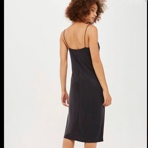 TOPSHOP Cupro Slip Dress